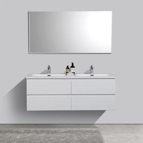 alicia140 blancb meuble double vasque blanc brillant1 Résultat Supérieur 17 Merveilleux Meuble Salle De Bain Double Vasque 140 Image 2018 Phe2