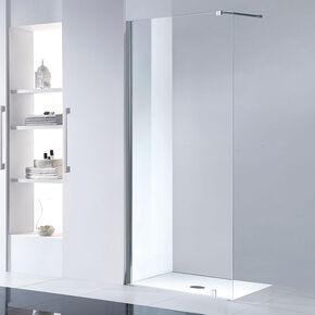 Paroi de douche fixe transparente