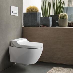 WC lavant suspendu Gébérit Tuma Aquaclean