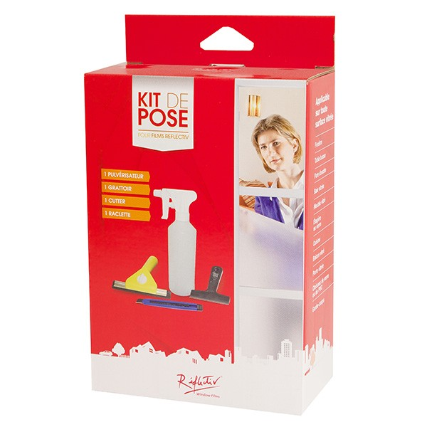 kit de pose pour stickers et adhesif porte et paroi de douche. Black Bedroom Furniture Sets. Home Design Ideas