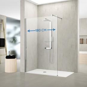 Destock design am nagement salle de bain paroi de douche - Paroi de verre douche italienne ...