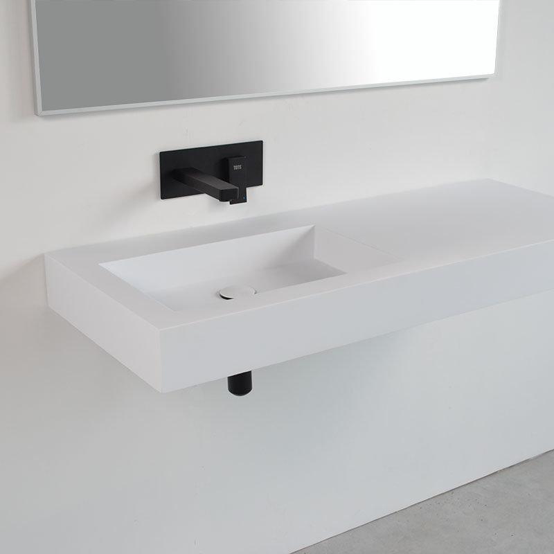 vasque a suspendre Plan vasque suspendu SISA 120 blanc gauche zoom 4