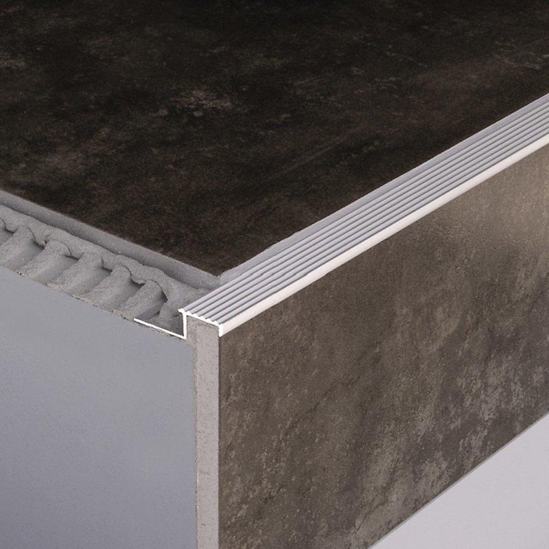 profil nez de marche carrelage bord extri 12 5 mm 250 cm. Black Bedroom Furniture Sets. Home Design Ideas