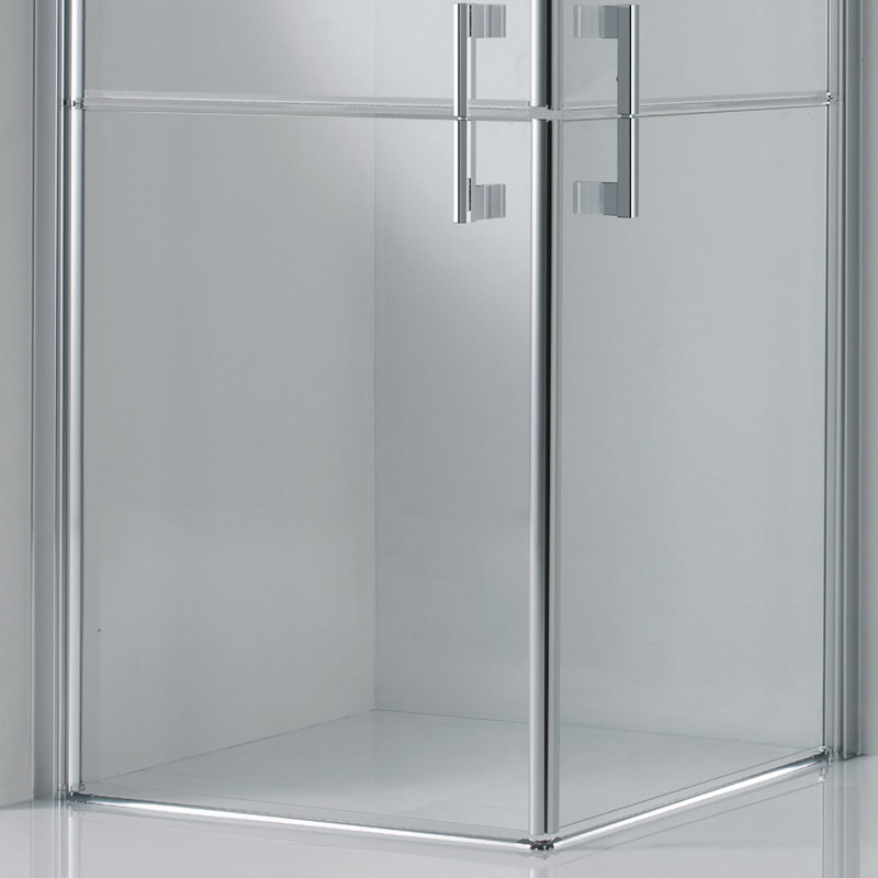 porte de douche d 39 angle en aluminium chrom 4 portes. Black Bedroom Furniture Sets. Home Design Ideas