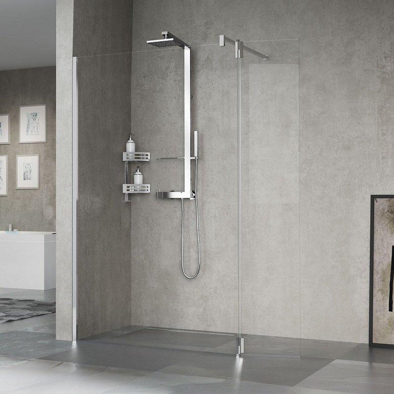 paroi de douche fixe avec retour kuadra h2 novellini. Black Bedroom Furniture Sets. Home Design Ideas