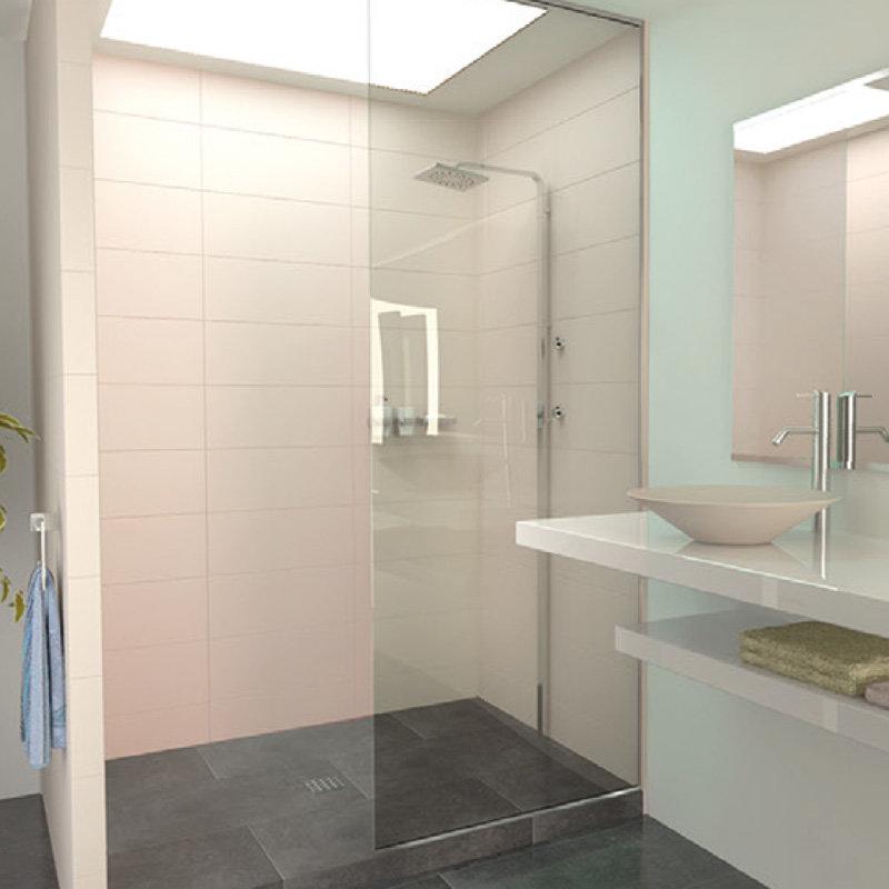 paroi de douche toute hauteur pour une doche ultra moderne. Black Bedroom Furniture Sets. Home Design Ideas