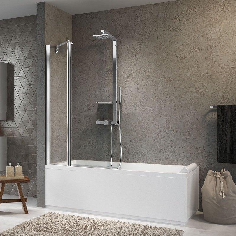 Pare baignoire sur mesure aurora 3 de marque novellini for Mesure standard baignoire