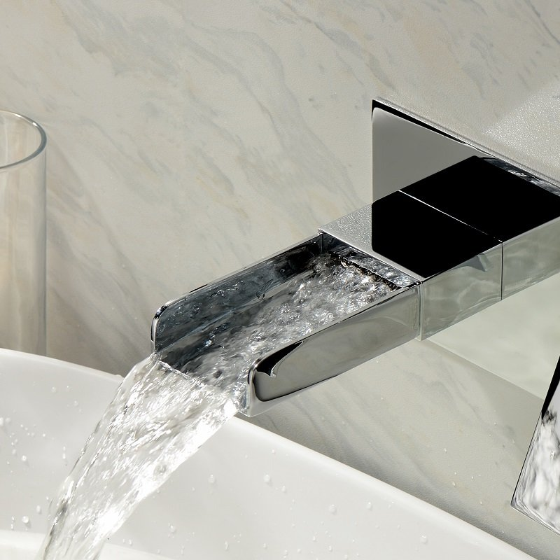 mitigeur murale lavabo zeo cascade en laiton massif anti. Black Bedroom Furniture Sets. Home Design Ideas