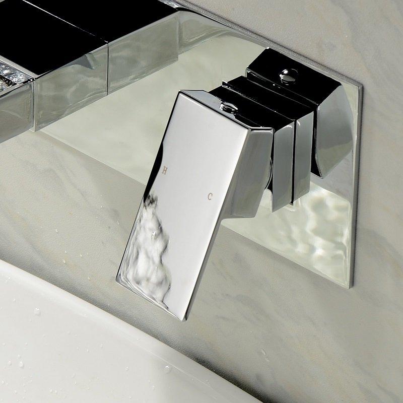 Mitigeur murale lavabo ZEO cascade en laiton massif anti corrosion