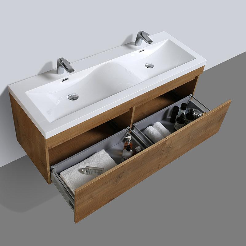 Meuble de salle de bain double vasque Cubik 144 cm