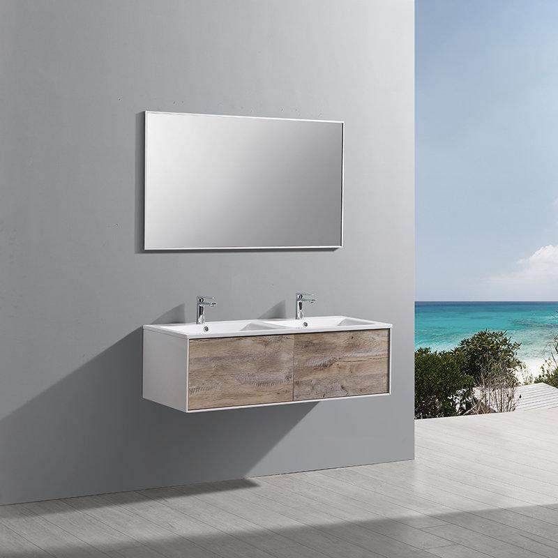 Meuble salle de bain suspendu Drek 2 grands tiroirs 120 cm