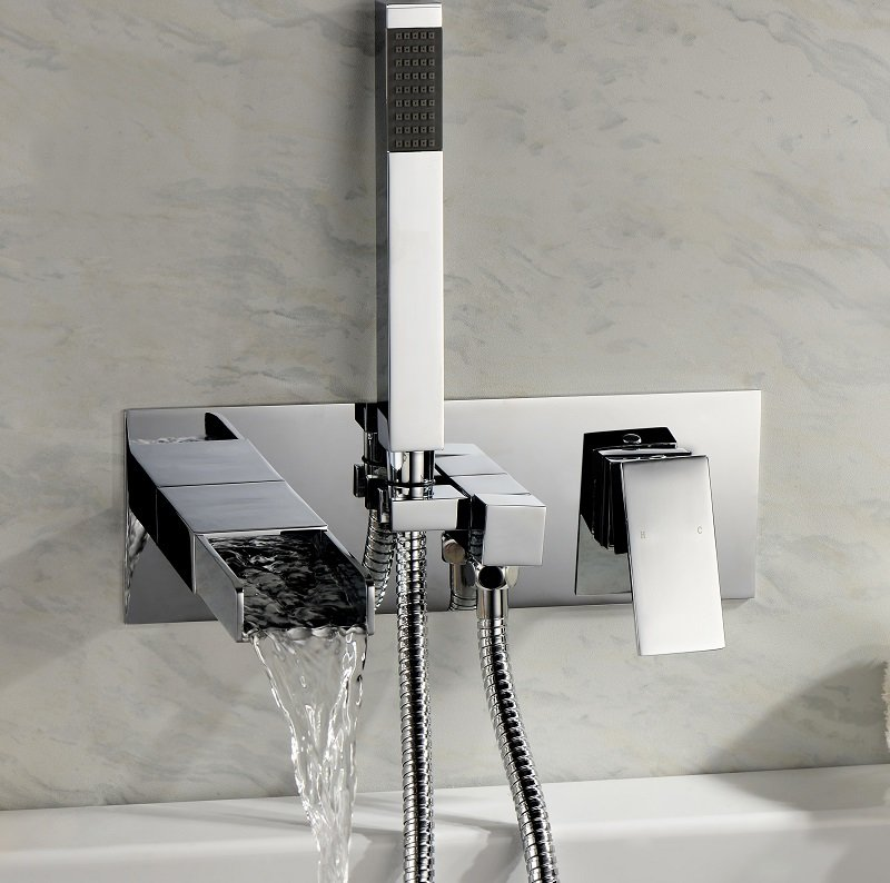 mitigeur bain douche zeo cascade en laiton chrom et anti corrosion. Black Bedroom Furniture Sets. Home Design Ideas