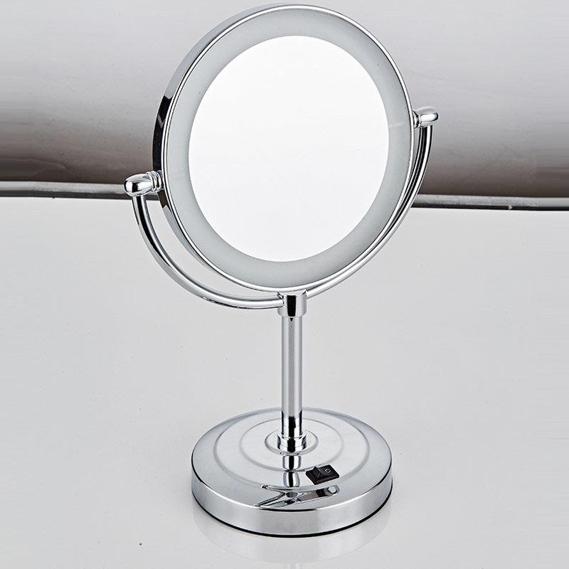 miroir grossissant lumineux poser lucia destock design