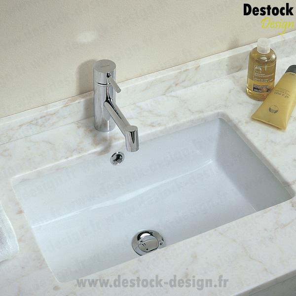 vasque encastrable en procelaine agres 55x35 cm lavabos design. Black Bedroom Furniture Sets. Home Design Ideas
