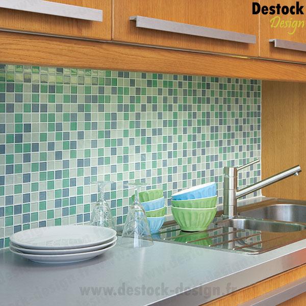 mosaque mix vert ple fonc - Salle De Bain Mosaique Verte