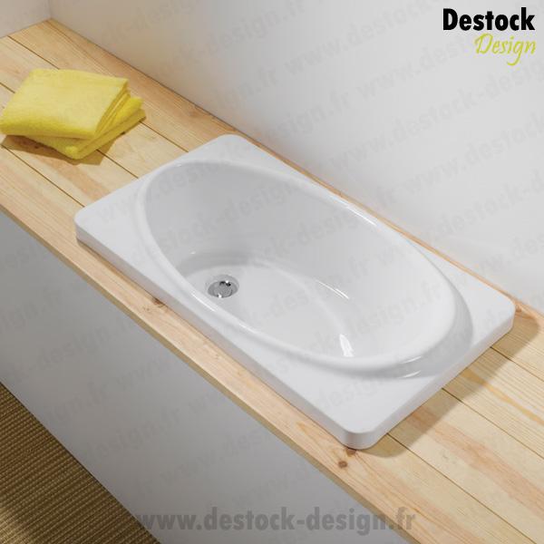 baignoire b b encastrable 80x45cm blanc babybath sanindusa. Black Bedroom Furniture Sets. Home Design Ideas