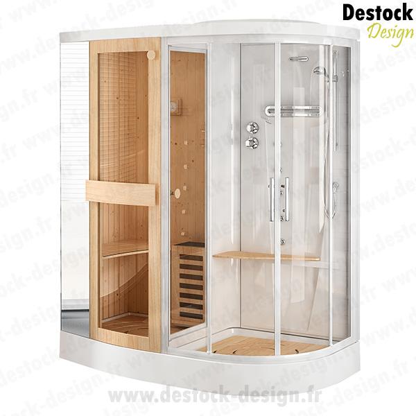 cabine de douche hammam sauna good cabine sauna infra rouge places with cabine de douche hammam. Black Bedroom Furniture Sets. Home Design Ideas
