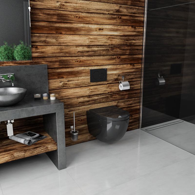 cuvette suspendue shine whitet avec abattant slim et soft close. Black Bedroom Furniture Sets. Home Design Ideas