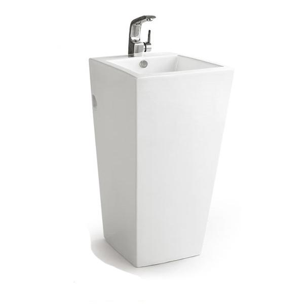 Vasque ilot sur ppied en ceramique pas cher en ligne - Vasque colonne pas cher ...