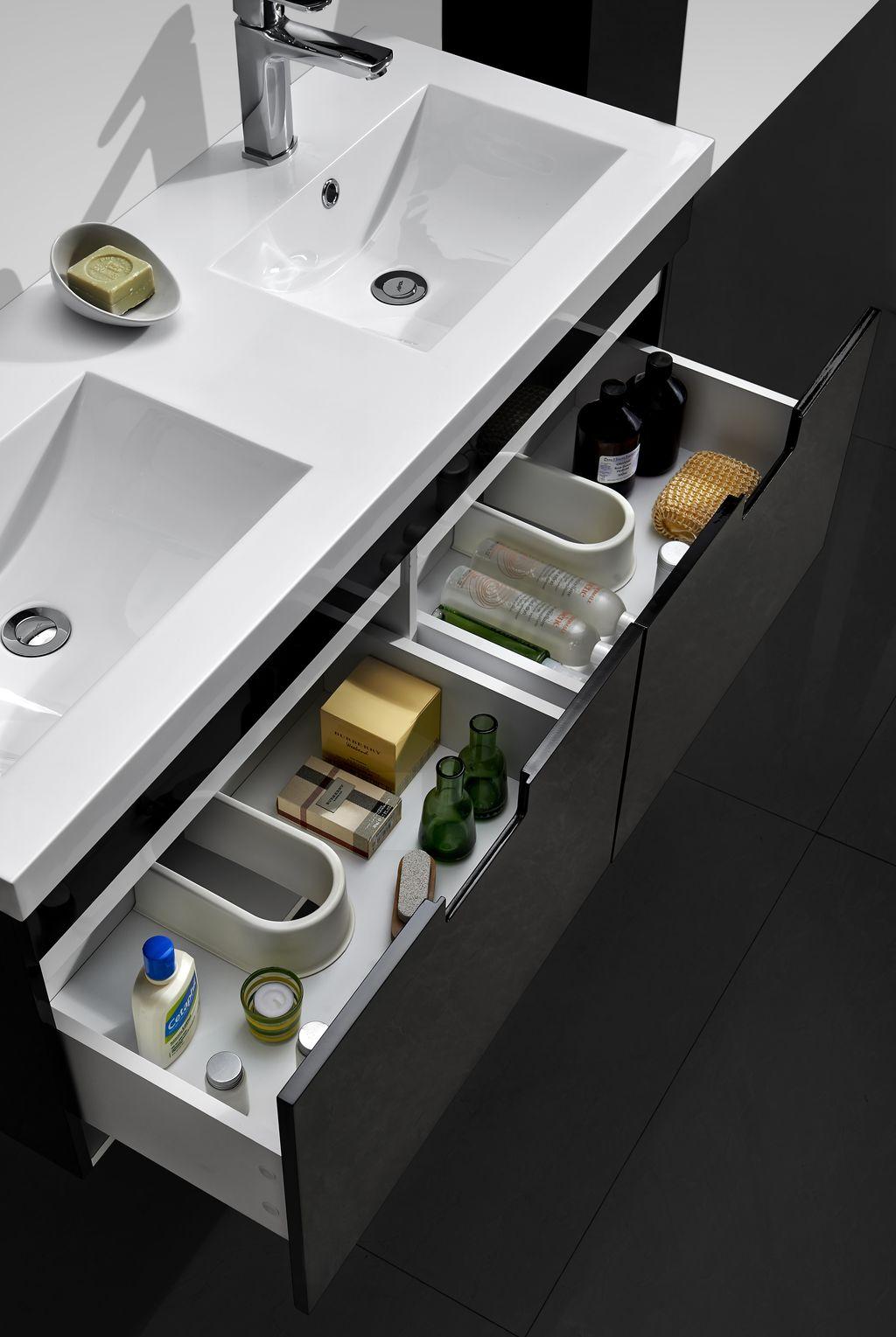 meuble salle bain double vasque 110 cm ce meuble livr mont est quip de 2 - Une Salle De Bain Est Equipee Dune Vasque
