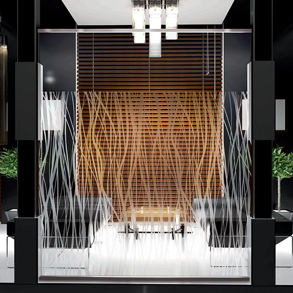 stickers motif courbes pour vitres portes et parois de douche. Black Bedroom Furniture Sets. Home Design Ideas