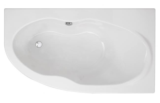 baignoire asymetrique 160 x 90 duna de marque sanindusa. Black Bedroom Furniture Sets. Home Design Ideas