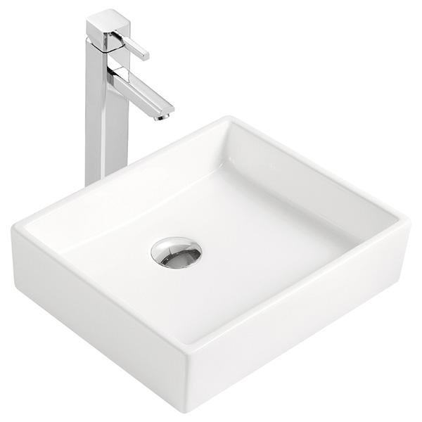 vasque poser carr e en c ramique vente en ligne. Black Bedroom Furniture Sets. Home Design Ideas