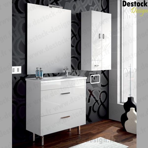 Meuble salle de bain almago blanc 80 cm - Meuble salle de bain 80 ...
