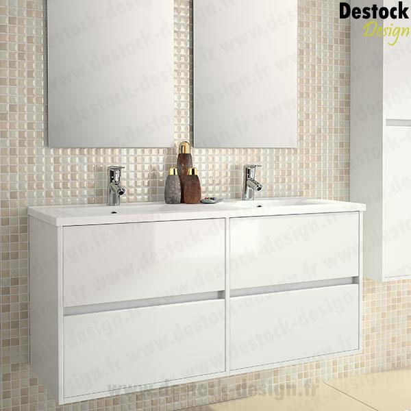 Meuble salle de bain noa blanc 120 cm Meuble salle de bain 120