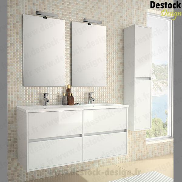 Stunning Salle De Bain Travertin Meuble Blanc Ideas - House Design ...