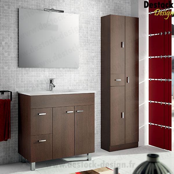 Colonne salle de bain wenge for Meuble salle de bain 80 cm pas cher