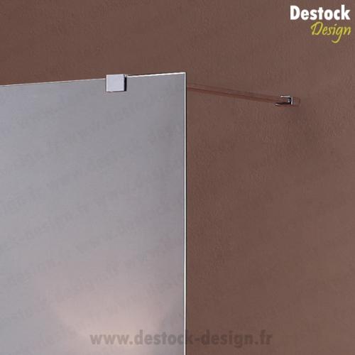Paroi fixe miroir de 120 cm pour douche de salle de bain for Paroi douche miroir