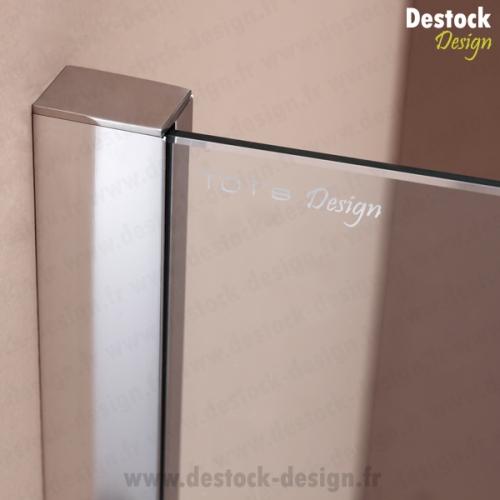 Paroi fixe miroir de 120 cm pour douche de salle de bain - Porte de douche miroir ...