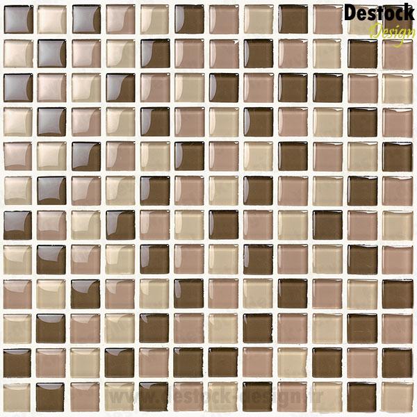 Mosa que en verre couleur chocolat meilleur prix for Muestras de azulejos