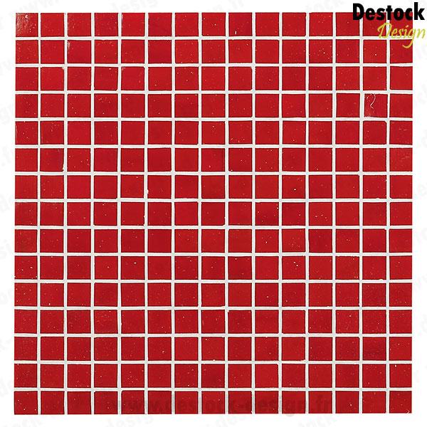 mosaque unie rouge poli - Mosaique Salle De Bain Rouge