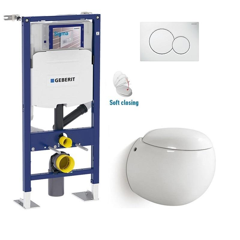 Pack WC suspendu Geberit oeuf à sortie horizontale
