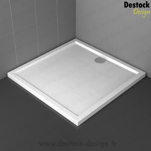 receveur bac a douche carr novellini 100x100 cm extra plat blanc resine acrylique. Black Bedroom Furniture Sets. Home Design Ideas