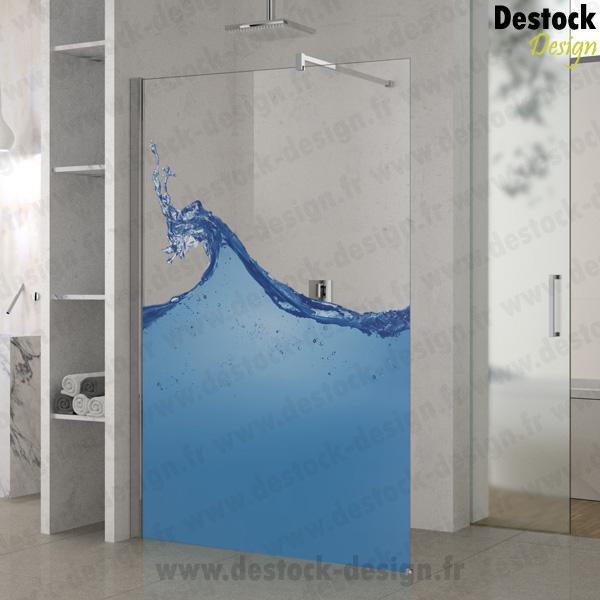 Paroi mod le vague pour douche fixe pour salle de bain - Paroi pour douche italienne ...
