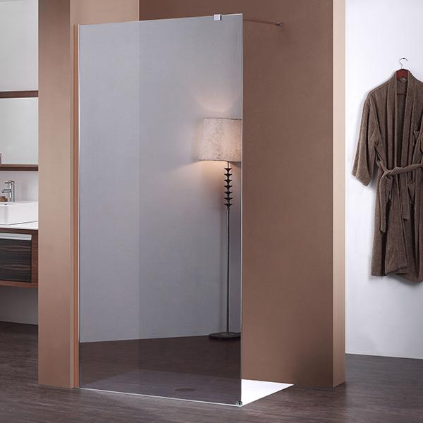 Paroi fixe miroir de 100 cm pour douche de salle de bain for Paroi de douche fixe