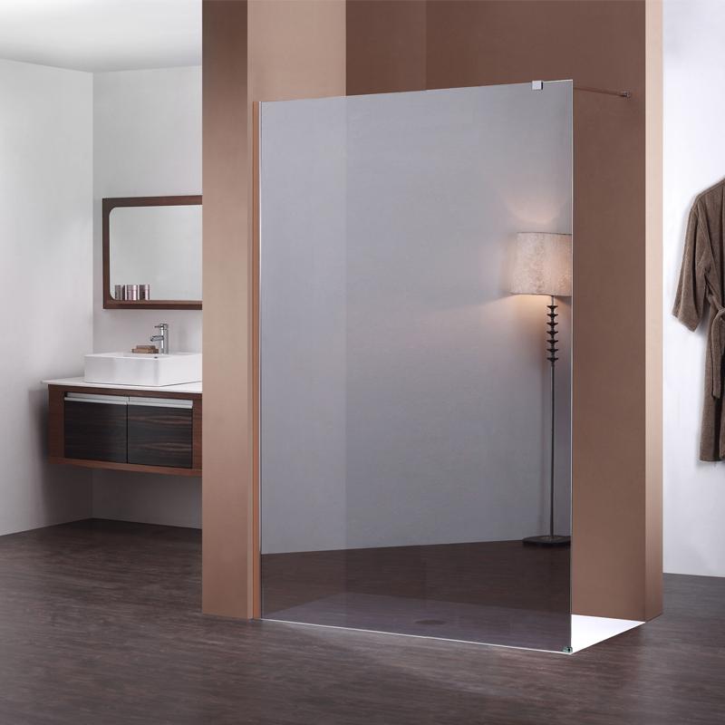 Paroi fixe miroir de 160 cm pour douche de salle de bain for Paroi de douche fixe