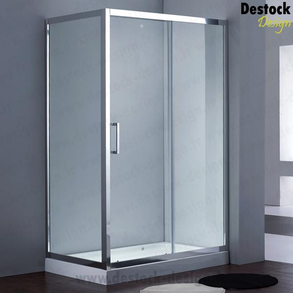 Douche d 39 angle en verre 80x120cm new designa pas cher paroi de douche p - Paroi de douche pas cher ...